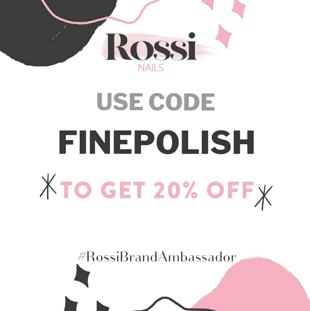 Rossi Nails 20% promo code: FINEPOLISH